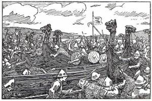 Erik Werenskiold Ynglinga saga battle
