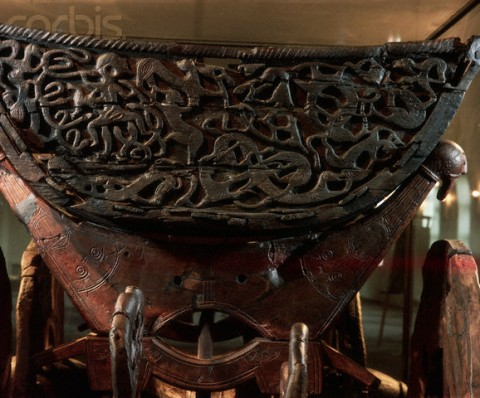 850s --- Viking Oseberg Cart --- Image by © Werner Forman/CORBIS