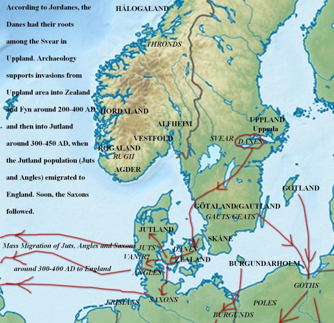 Danes and Migrations